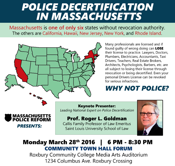 Police Decertification town hall- web