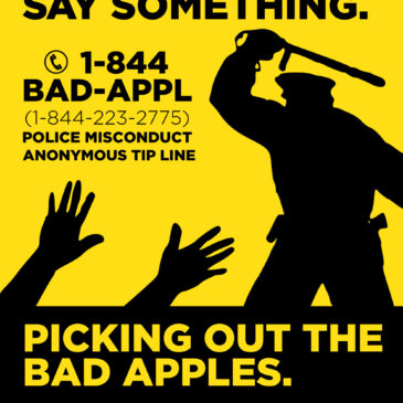Mass Police Reform Announces 1-844-BAD-APPL Police Misconduct Tip Line